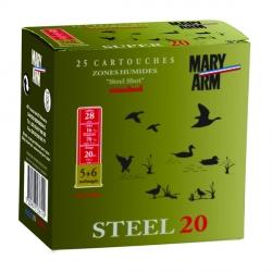 Cartouche 20 calibre 28-70 n° 5+6 MARY ARM