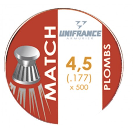 Plombs match - 4,5mm - Unifrance