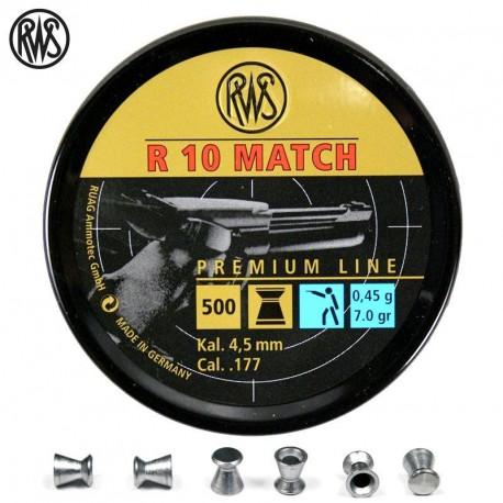 RWS - 4,5mm - R10 Match Pistolet - (x500)