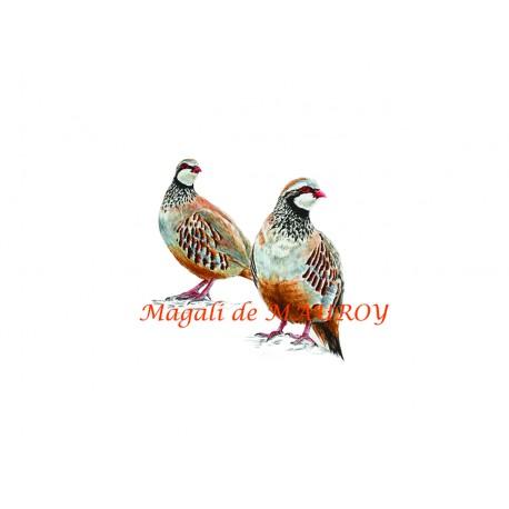 Magali de Mauroy Reproductions numérotées - Perdrix rouges