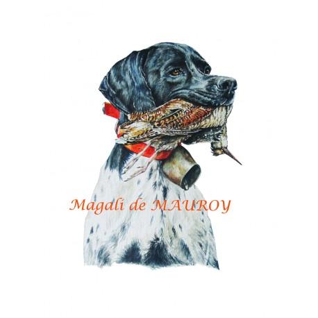 Magali de Mauroy Reproductions numérotées - Pointer à la bécasse
