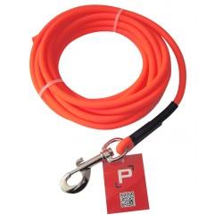 longe tubulaire biothane orange fluo 5 et 10 m-armurerie-steflo