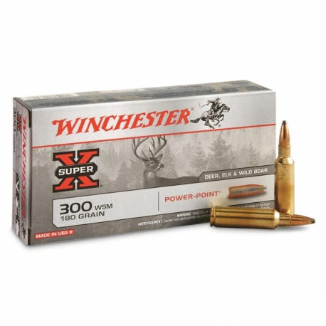 Winchester - 300WSM - Power Point - 180grs-armurerie-steflo
