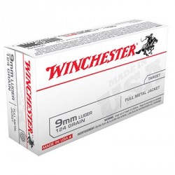 Winchester 9mm Luger FMJ Target 124grs