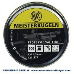 RWS Meisterkugeln 4,5mm 0.53g carabine - (x500)