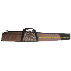 Fourreau fusil marron/camo 128cm