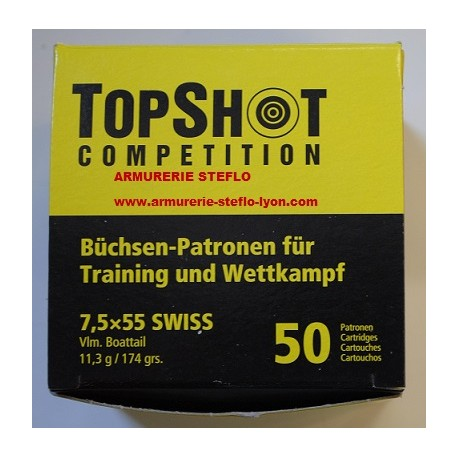 Top Shot Competition 7,5x55 Suisse (x50)