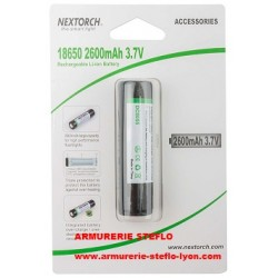 Nextorch accu rechargeable 18650 - 3,7V (x1)