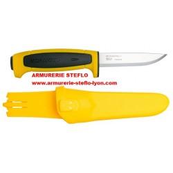 Couteau de chasse Suédois Mora Stéflo jaune