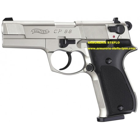 """Walther CP88 - 4,5mm CO² - 3,5"""" nickelé - Umarex"""