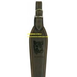 """Bretelle carabine Riserva """"Sanglier"""" cuir"""