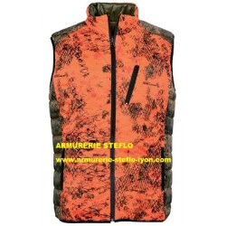 Gilet Pro Hunt Verney Carron réversible Léopard vert/orange