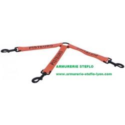 Tripleur nylon orange 20cm Pisteurs