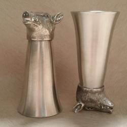Verre à eau-de-vie sanglier-cadeau-armurerie-steflo