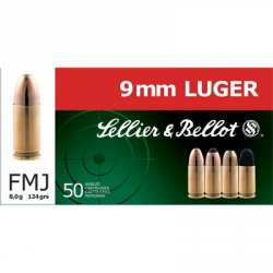 sellier bellot 9mm munitions-armes-loisir-steflo