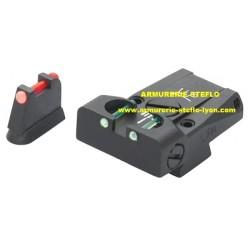 Hausse + guidon LPA CZ 75/85 avec insert fibre optique