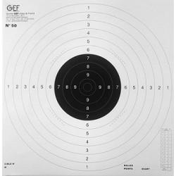 Cibles GEF C50 - 50x50cm - (x10)