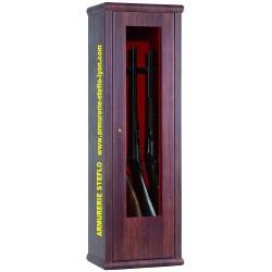 Coffre Infac 8 armes avec lunette - aspect bois + coffre intérieur